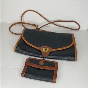Vintage Dooney & Bourke pebbled leather crossbody